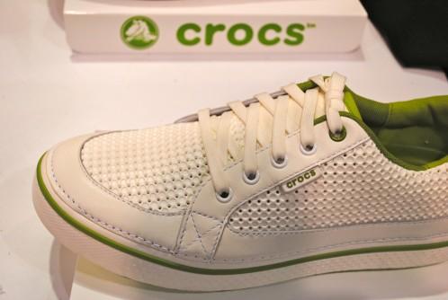 Crocs White/Parrot Green Preston Golf Mens Shoes