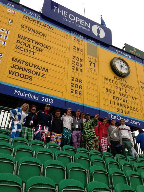 The Open Scoreboard