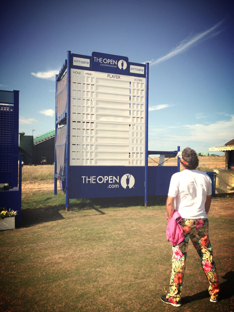 The Open Scoreboard at Muirfield