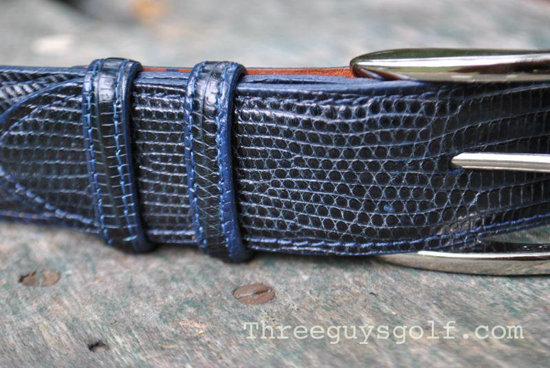 Piedmont Leather Lizard Belt