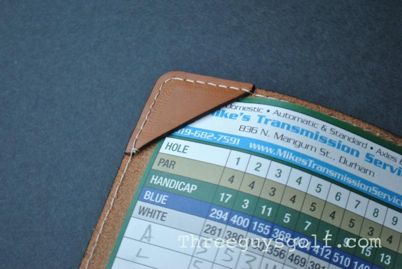 Carveon leather scorecard holder