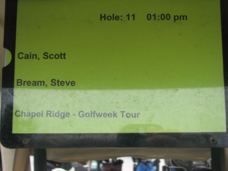 GolfWeek Amateur Tour Cart Plaque