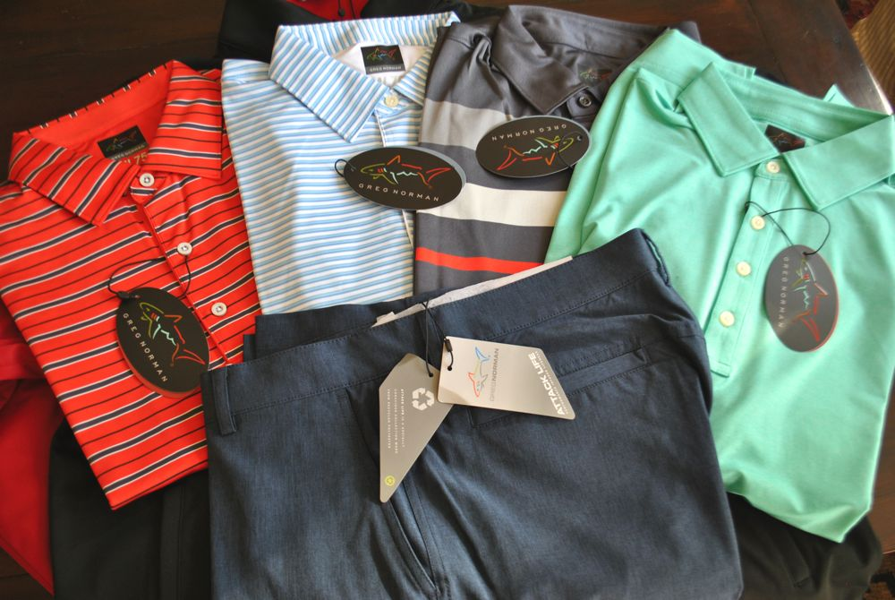 Greg Norman golf apparel